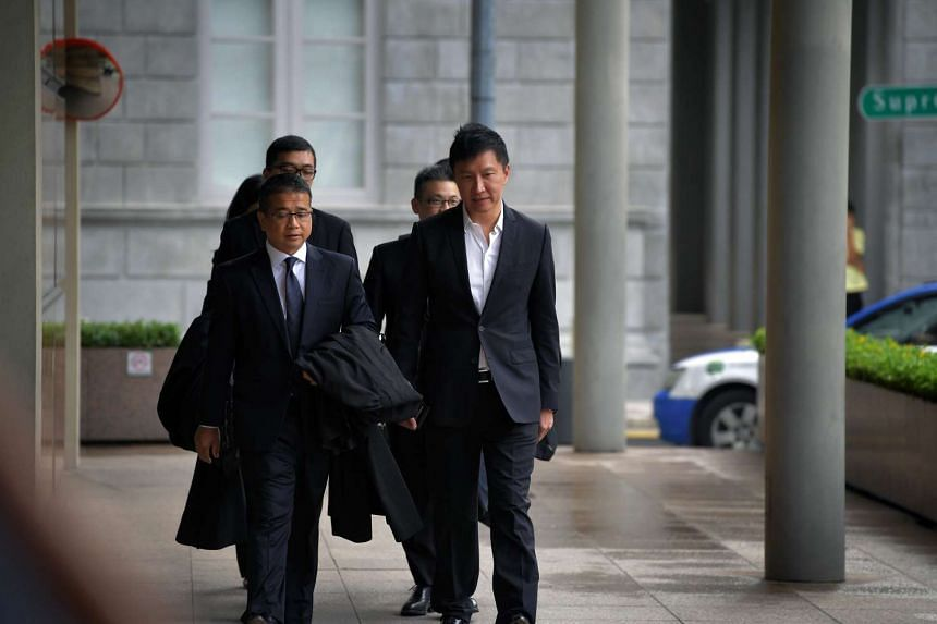 Kong Hee and his lawyer Edwin Tong ariving at the Supreme Court.