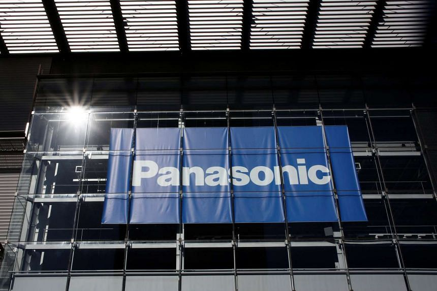 Panasonic Corp's logo is pictured at Panasonic Centre in Tokyo.