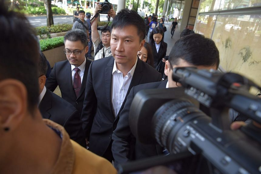 City Harvest Church founder Kong Hee leaving the court.
