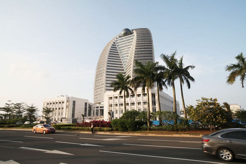 HNA's corporate headquarters in the city of Haikou, China. HNA, one of China's most acquisitive companies, started talks in May last year about buying a stake in CWT.