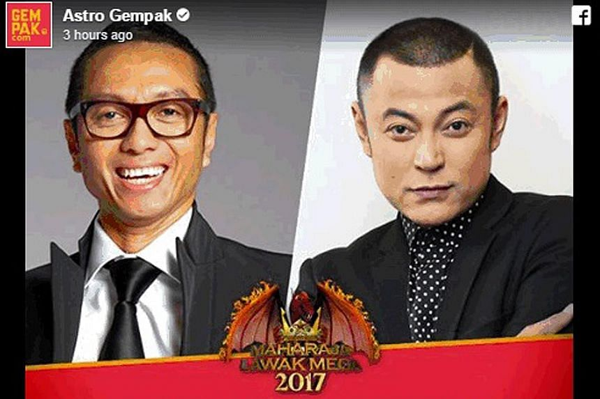 Cable channel Astro, which airs Maharaja Lawak Mega 2017, announced through its Astro Gempak Facebook page yesterday that Singapore comedian Najip Ali (left) would be replaced as a judge on the show by Malaysian TV host Aznil Haji Nawawi.