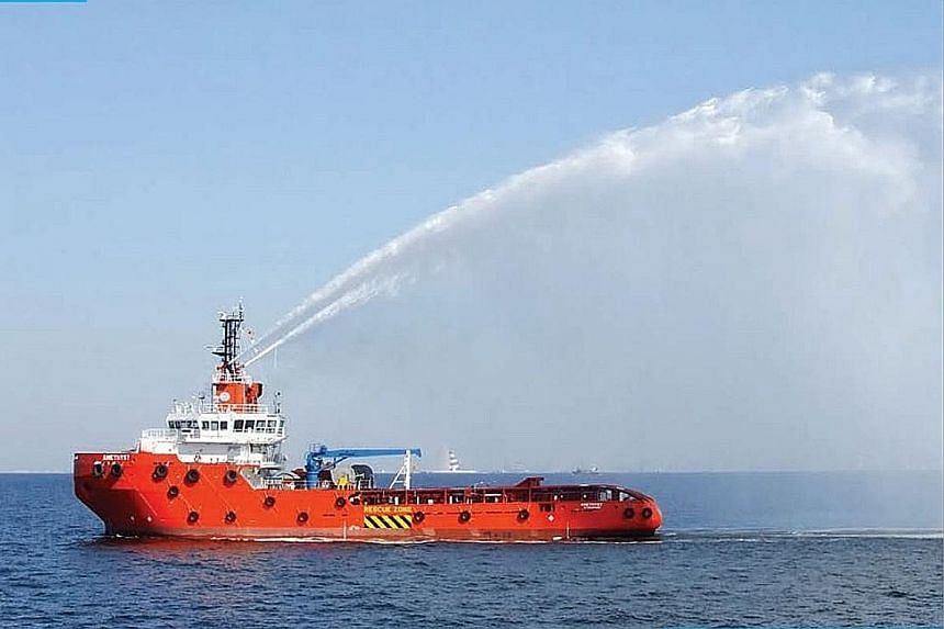 A Chuan Hup Offshore support vessel. Falcon Energy had earlier tried to buy out CH Offshore, but Chuan Hup Holdings - its second-largest shareholder then - rejected the offer in January 2015.