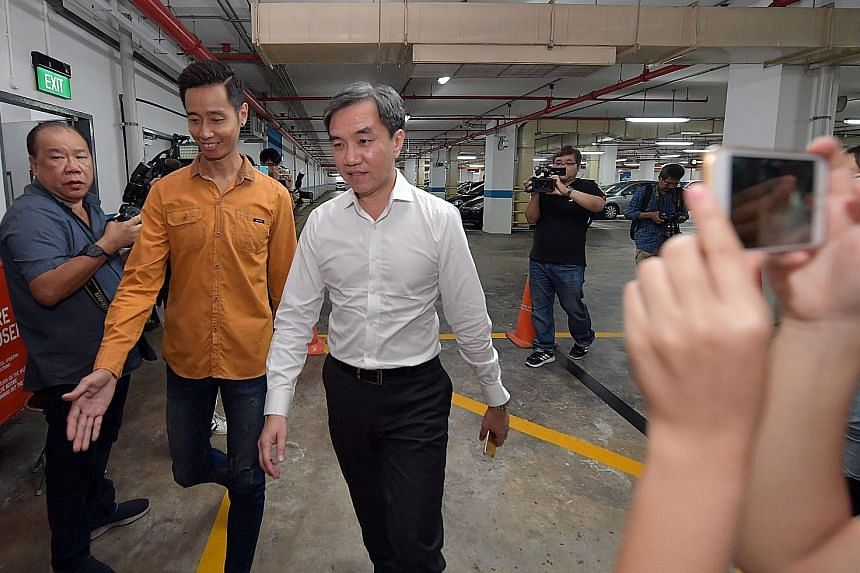 """Clockwise from top: Chew Eng Han; Kong Hee, flanked by lawyers Edwin Tong and Aaron Lee (far right); and Tan Ye Peng. In meting out the harshest sentence among the six church leaders to Kong, the judges agreed he was the """"ultimate leader"""" of the five"""