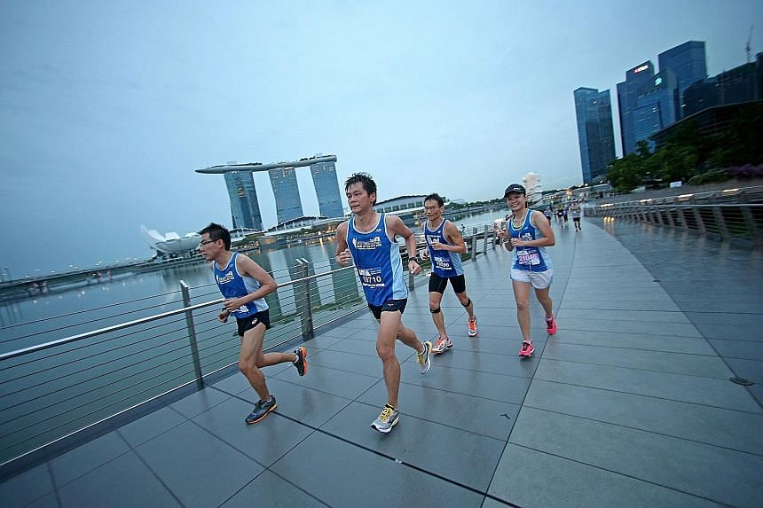 The ST Run in the City 2017 will end at the Padang, and takes runners past sights like Marina Bay Sands and the Singapore Flyer.
