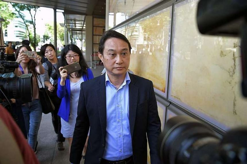 """Chew Eng Han leaving the court. In meting out the harshest sentence among the six church leaders to Kong, the judges agreed he was the """"ultimate leader"""" of the five others."""