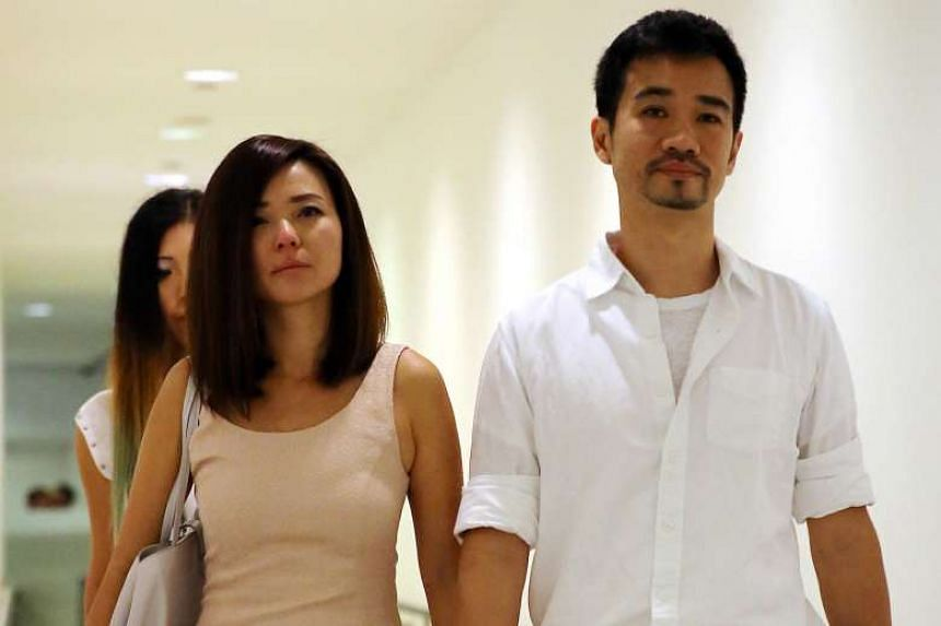 """Serina Wee (left) and her husband Kenny Low (right) leaving the court. The judges noted that the case should not be seen as a """"sinister and malicious attempt"""" by the six to use the church's funds for their own purposes, despite the huge sum of about"""
