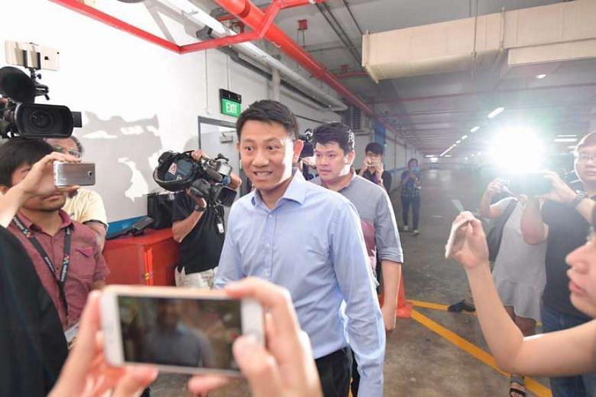 Deputy senior pastor Tan Ye Peng arriving in court.