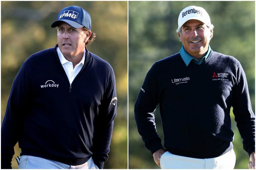 Phil Mickelson (left) is a five-time major champion, while Fred Couples is the 1992 Masters winner.