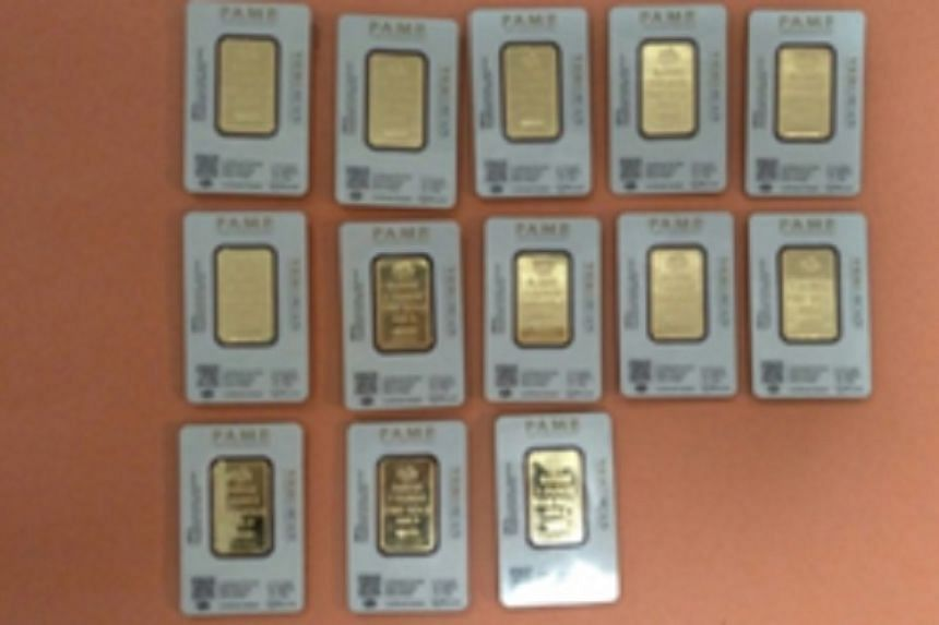 A total of 45 fake gold bars were discovered, the police said in a news release on Saturday (April 8).