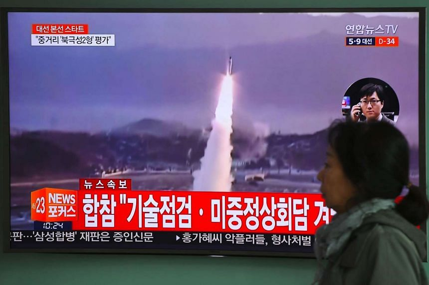 Pyongyang fired a ballistic missile into the sea between the Korean peninsula and Japan on Wednesday (April 5).