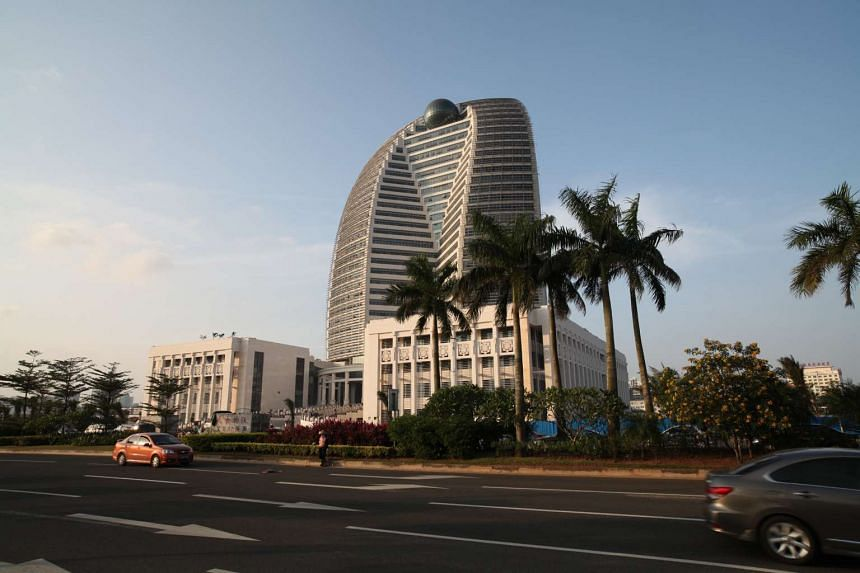Chinese conglomerate HNA Group's corporate headquarters in Haikou, China.