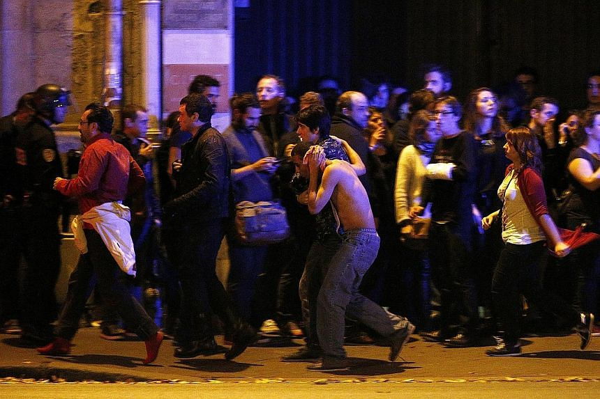 Mr Eric Gigou of the French police special forces says the key is to react quickly during an attack to minimise casualties. Scenes of chaos as terrified concert-goers fled the Bataclan theatre and wounded victims were rushed to safety during the Nove