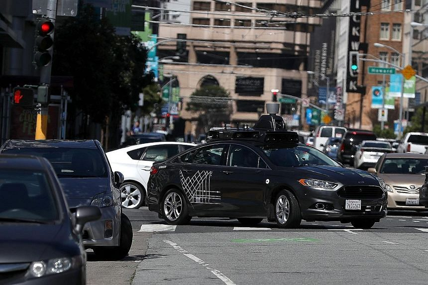 An Uber self-driving car. The company is fighting a legal case that accuses it of profiting from data stolen from Waymo.