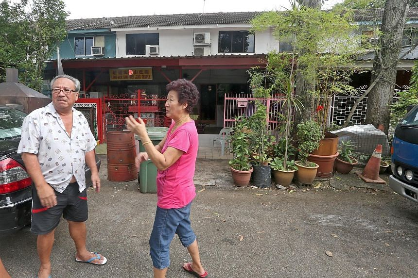 Mr Lim Kah Chin and his wife Teo Kim Guat, 66, are among the estimated 30 households - out of 190 private landed homes - still living in Geylang Lorong 3. Mr Lim now regrets not selling his unit some 10 years ago.