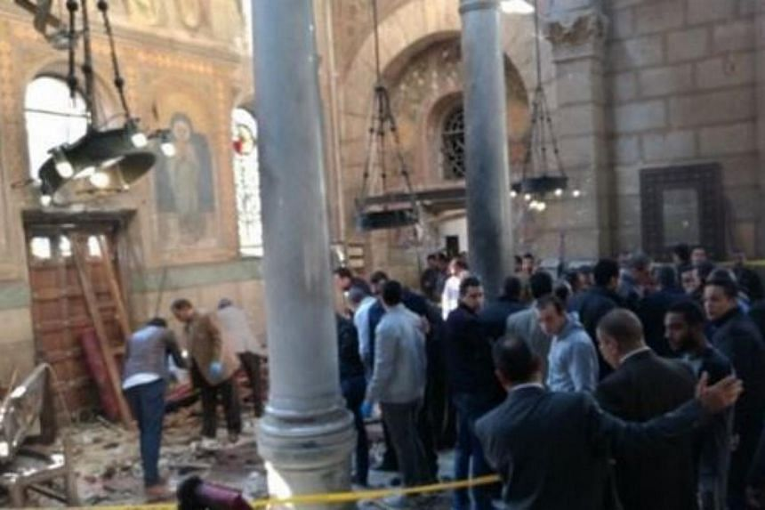 An explosion rocked a Coptic church in the city of Tanta, Egypt, on April 9, 2017, during a Palm Sunday service.
