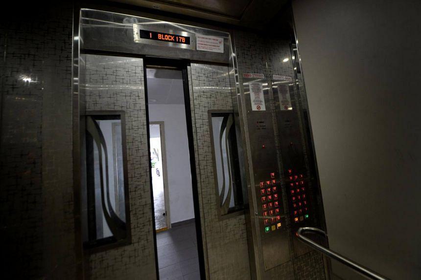 Interior of the Sigma lift at Block 17B, Circuit Road.