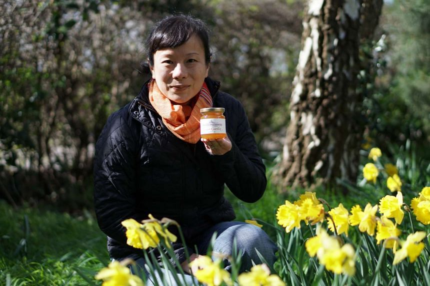 Ms Sharon Lee, owner of Straits Preserves, with her Ginger Garden marmalade.