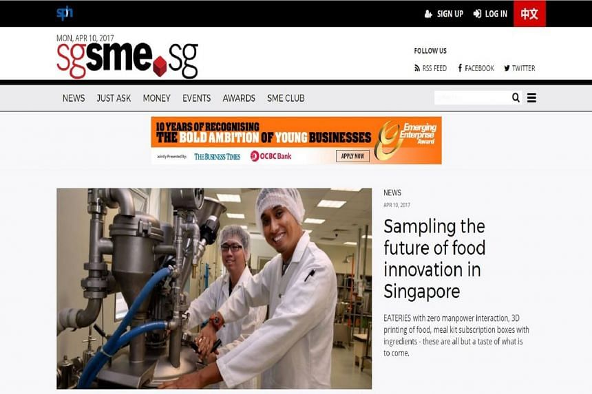 Sgsme.sg will offer SME-related news, analyses, features and interviews from The Straits Times, The Business Times, The SME Magazine, Lianhe Zaobao, zaobao.sg, Lianhe Wanbao and Shin Min Daily News.