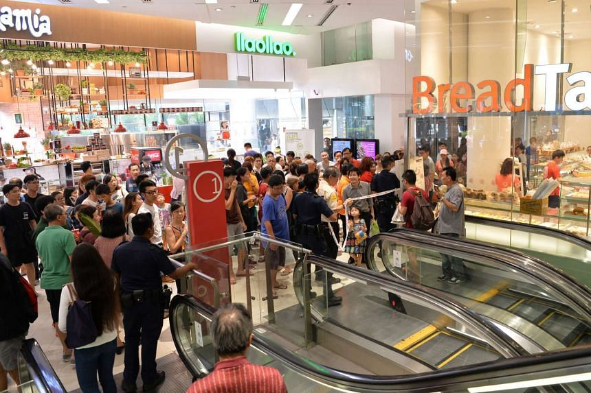 About 30 people evacuated from The Clementi Mall after car