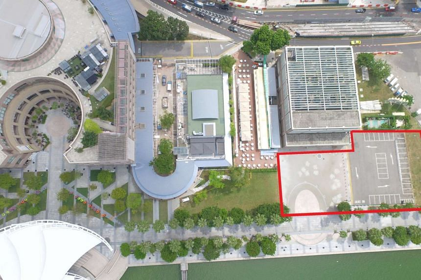 The 3,000 sq m site of the proposed new waterfront theatre at the Esplanade - Theatres On The Bay.