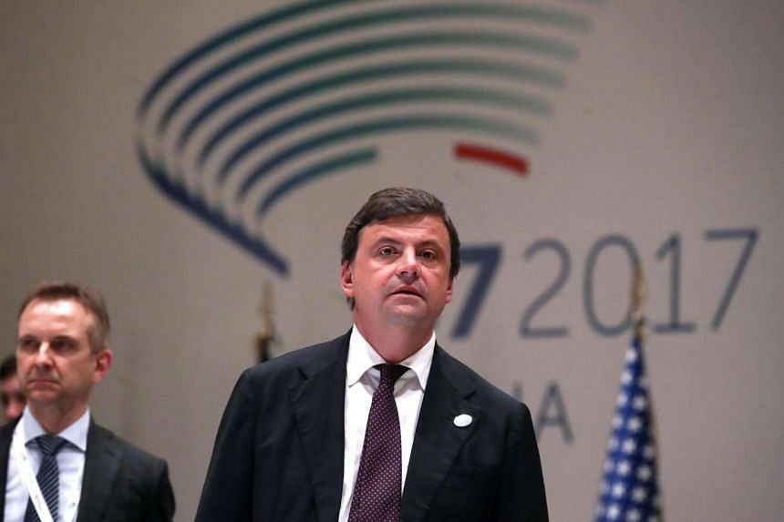 Carlo Calenda, Italian Minister of Economic Development, during the second day of the G7 Energy Ministerial Meeting at the Farnesina Palace in Rome, on April 10, 2017.