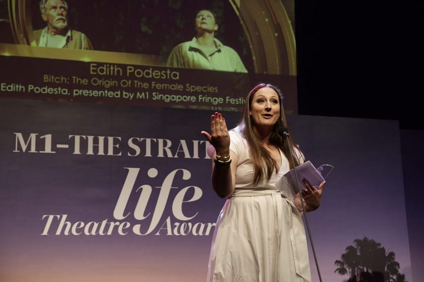 Edith Podesta receives the award for Best Original Script for B*tch: The Origin Of The Female Species.