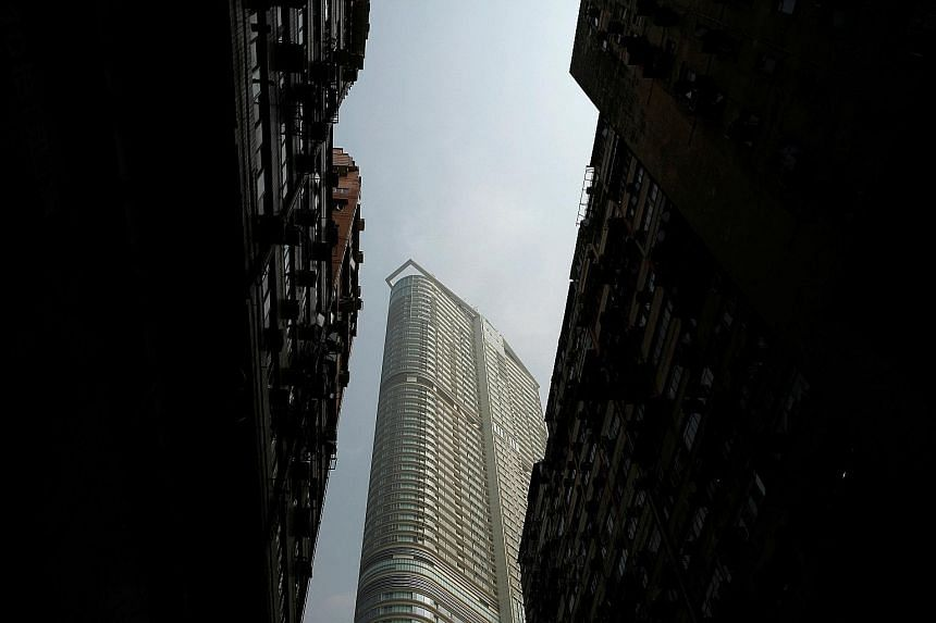 A new luxurious residential building in Hong Kong. The city topped a survey of the world's most expensive places for accommodation for the seventh straight year.