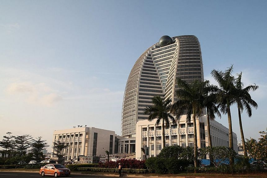 The HNA group corporate headquarters in Haikou, China. The Chinese conglomerate has tabled a pre-conditional general offer for CWT, one of Singapore's largest logistics groups. At $2.33 a share, the offer represents a 12.6 per cent premium to the las