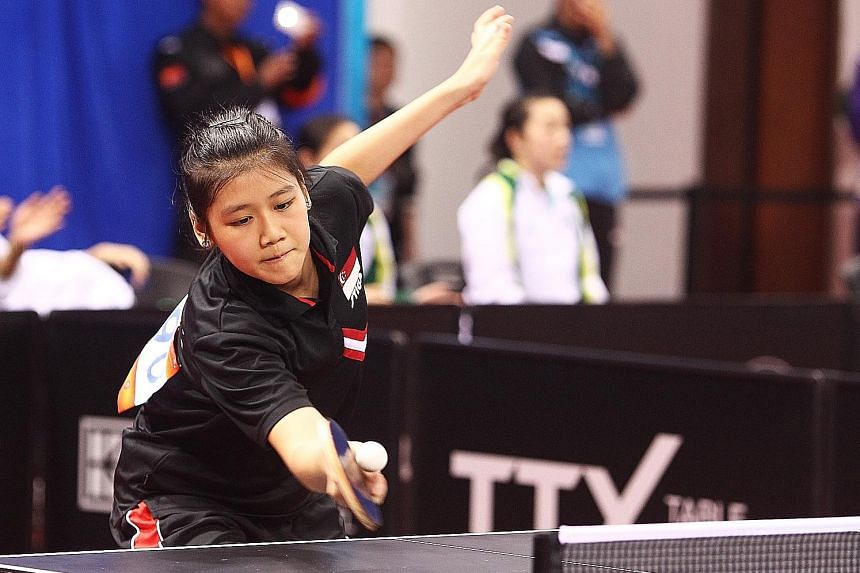 Wong Xin Ru, 16, and her teenage team-mates acquitted themselves well - all won their matches yesterday at the Asian Table Tennis Championships in Wuxi, China.