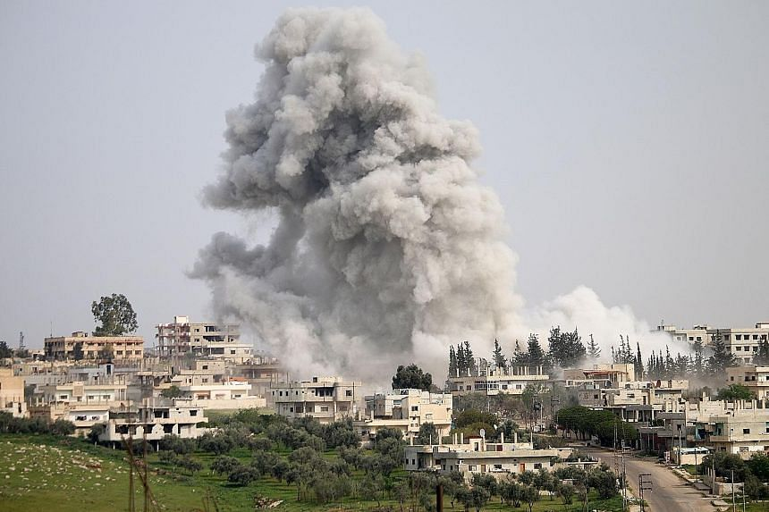 Syrian government forces reportedly conducted an air strike on a rebel-held area in the southern city of Daraa on Saturday despite the US strike on an airfield.