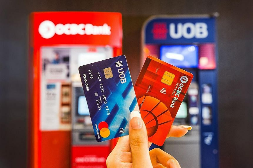 OCBC and UOB want to raise awareness of their shared ATM network and the cross-bank cash withdrawals, fund transfers and balance inquiry services. They aim to raise cross-ATM transactions by 10 per cent.