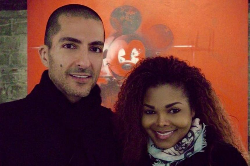 Pop star Janet Jackson with Qatari billionaire Wissam Al Mana seen in a photo posted on Twitter in February 2016.