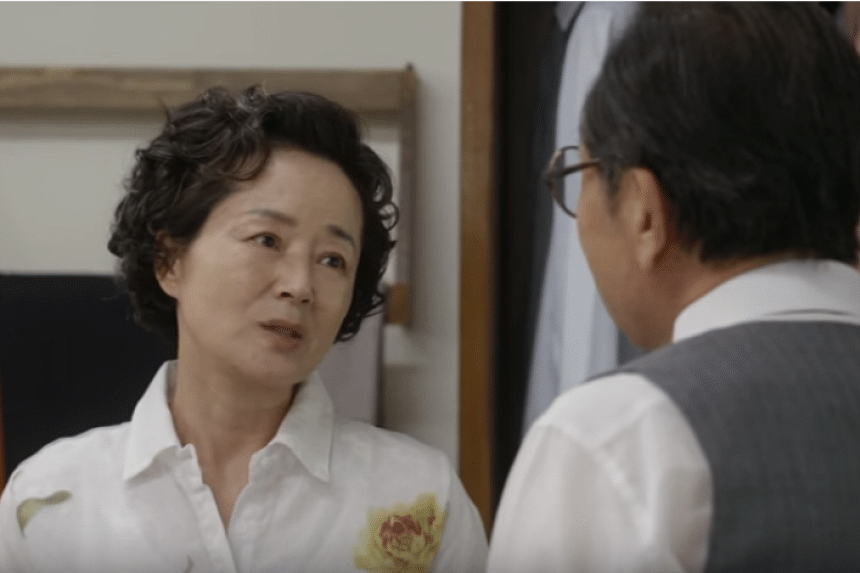 A screengrab of Kim Young Ae in a scene from The Gentlemen of Wolgyesu Tailor Shop.
