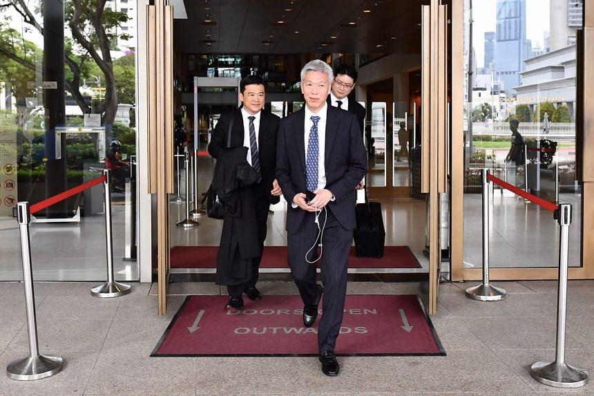 Mr Lee Hsien Yang walking out of the Supreme Court on April 10, 2017.