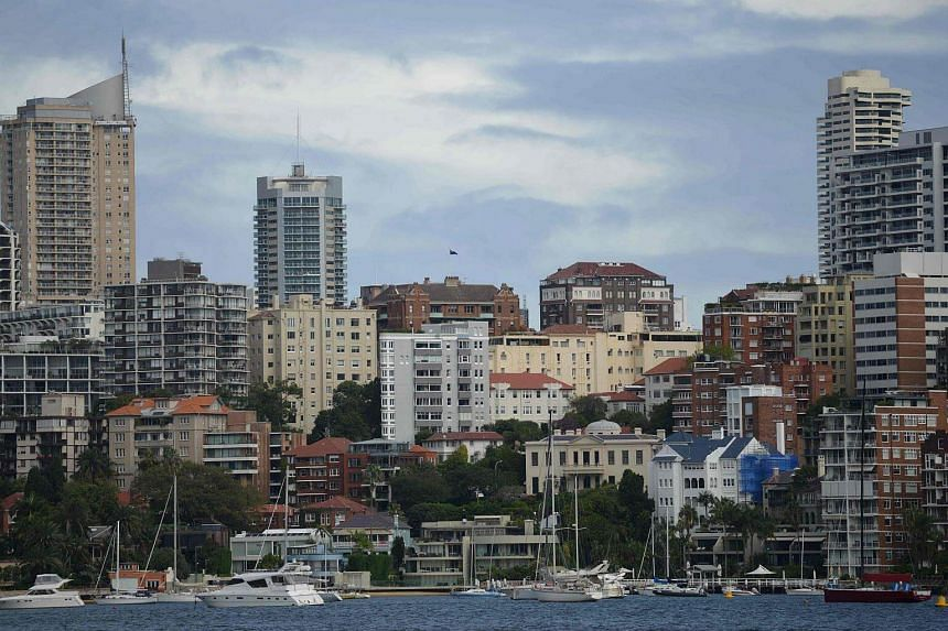 Residential properties are seen from Sydney Harbour in Sydney, on April 4, 2017.