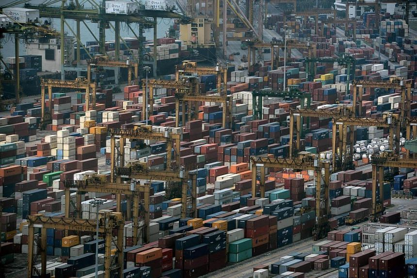 A general view of Tanjong Pagar container terminal is seen in Singapore on March 17, 2017.