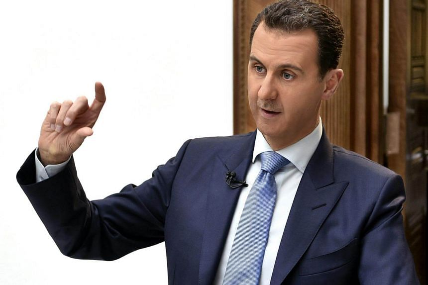Syrian President Bashar al-Assad during an interview in Damascus, Syria, on April 3, 2017.