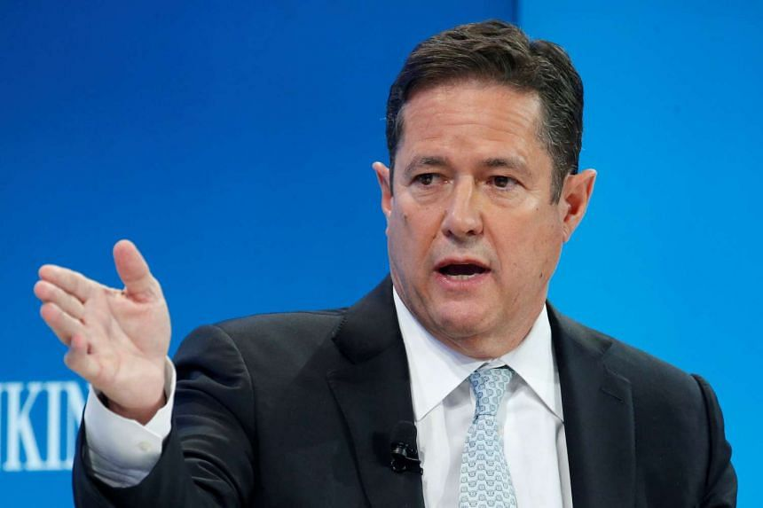 Jes Staley, CEO of Barclays bank, attends the World Economic Forum annual meeting in Davos, Switzerland on Jan 20, 2017.