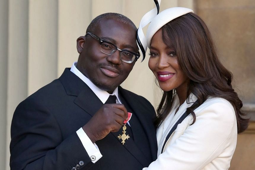 Edward Enninful (with model Naomi Campbell) is the first man and the first black editor to take the helm of British Vogue.