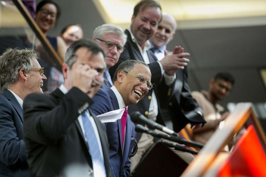 Dean Baquet, executive editor of The New York Times, during a ceremony for the announcement of the 2017 Pulitzer Prizes in The Times office in New York, April 10, 2017.