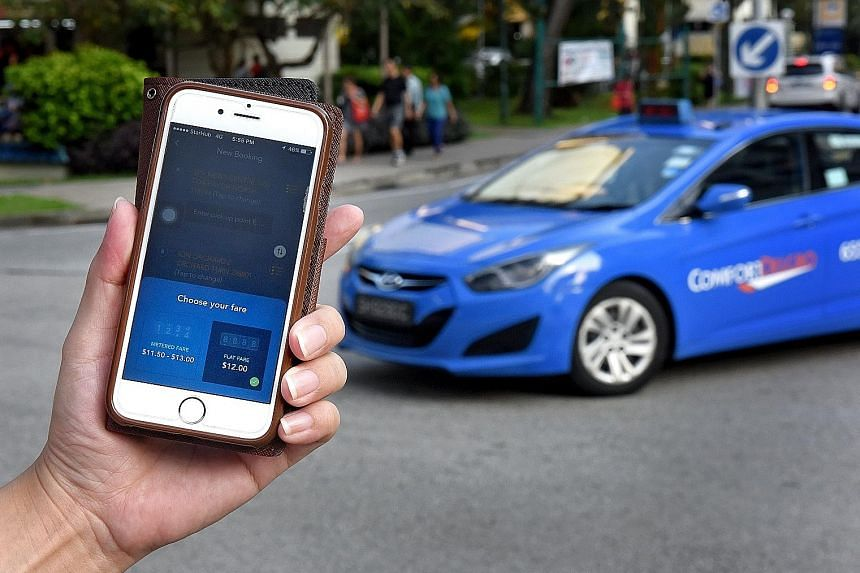 ComfortDelGro's app users will be shown two sets of fares - flat and metered - when they enter their pick-up and drop-off points.