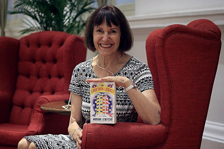 Marina Lewycka with her most recent novel, The Lubetkin Legacy. She is working on a book on the Brexit vote which could be set in Singapore.