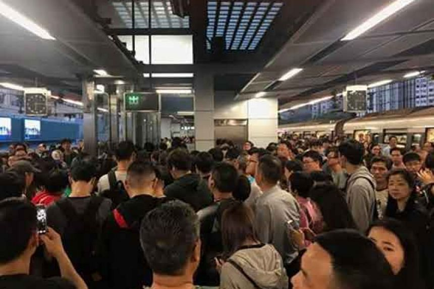 Some 10,000 commuters were affected  by the breakdown, which occurred for two and a half hours during Monday's evening peak period.