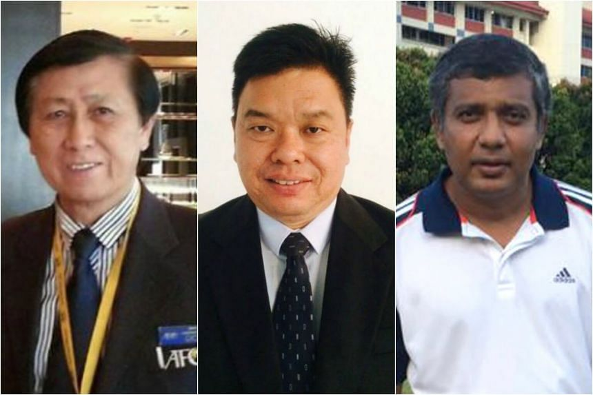 (From left) Former Fifa referee Lai Boon Teck, Hougang treasurer Jeffrey Sim and independent candidate Kumar Appavoo made successful appeals to contest in the April 29 polls.