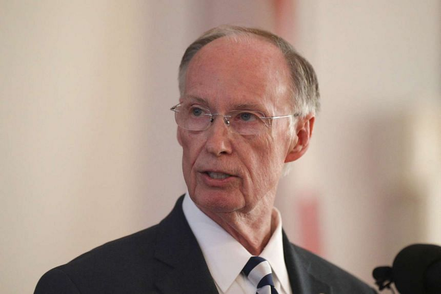 Alabama governor Robert Bentley announcing his resignation amid impeachment proceedings on accusations stemming from his relationship with a former aide in Montgomery, Alabama, on April 10, 2017.