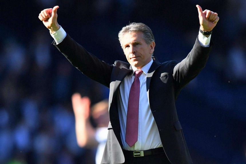 Southampton manager Claude Puel during the team's game against West Bromwich Albion on April 8, 2017.