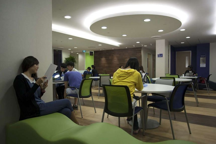 Interior of Kaplan City Campus @ PoMo. Kaplan offers degrees from globally ranked universities, such as Birmingham City University, Royal Holloway University of London and University College of Dublin, among others. FILE PHOTO