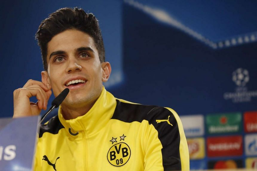 A 2016 file photo of Borussia Dortmund's Spanish defender Marc Bartra, who is reported injured in the blast.