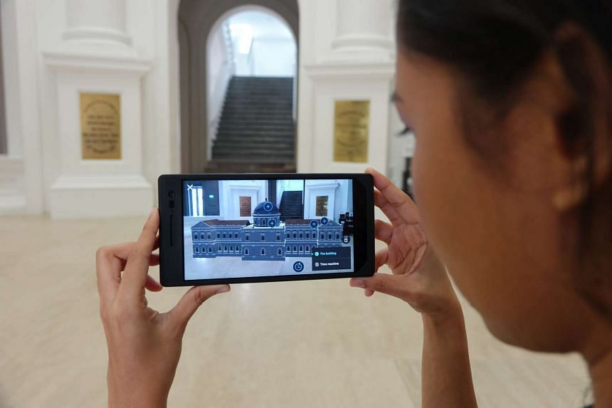 The Tango-enabled Architecture Tour of the National Museum of Singapore lets users learn more about the history of the building.