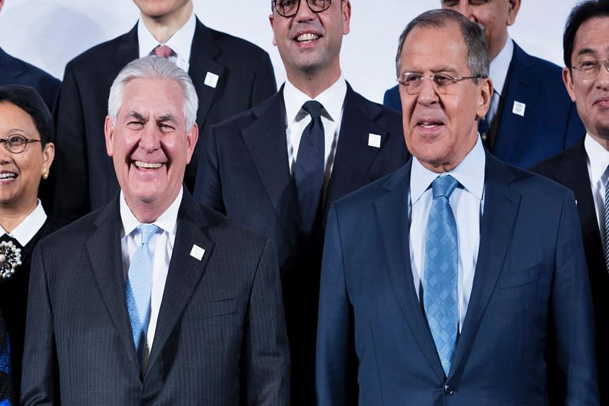 Secretary of State Rex Tillerson is scheduled for a day of talks with his opposite number Foreign Minister Sergei Lavrov.